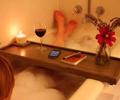 compact wooden bath caddy with wine glass holder 32 wooden bath caddy au full size