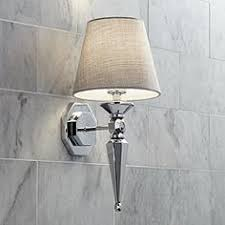 bathroom bar lights chrome. textured fabric shade 17 1/4\ bathroom bar lights chrome