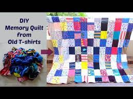 diy memory quilt from old t shirts