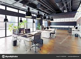 loft office. Modern Cozy Loft Office \u2014 Stock Photo P