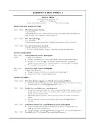 Experience Based Resume Template Skills Based Resume Example ...