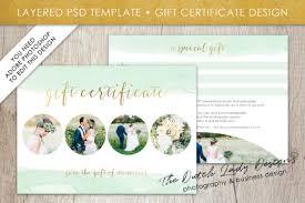 Gift Certicate Template Psd Photo Gift Certificate Card Template