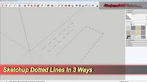 Mike boyd took a moment out of his day to figure out how mit lecturer walter lewin draws precise dotted lines so quickly and with such satisfying sound to boot. Sketchup Dotted Lines In 3 Ways Basic Tutorial Youtube