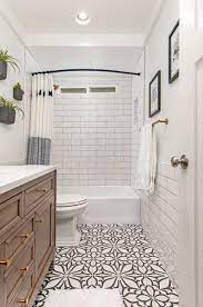 Cement Tile Patterned Tile Floors In The Bathroom The Happy Housie