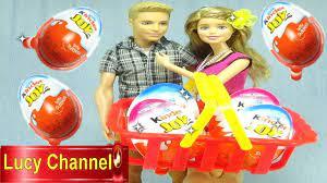 Đồ chơi Lucy Búp bê Barbie & Ken bóc trứng Kinder Surprise egg Toy for kids  - YouTube