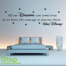 disney wall sticker quote on dream wall art uk with disney wall sticker quote kids girls boys dream wall art decal x58