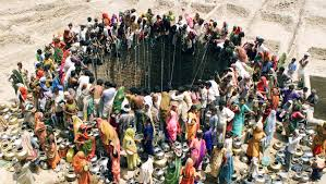 world war iii will be fought over water quartz people gather to get water from a huge well in the village of natwarghad in the