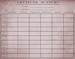 school schedule template ea school schedule template by guardiansofempyrean on deviantart