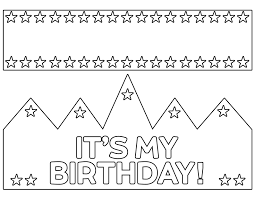 You can print these on colorful card stock paper or even regular construction paper. Free Printable Happy Birthday Crown Paper Trail Design