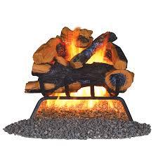 remington 18 in 45000 btu pan burner vented gas fireplace logs