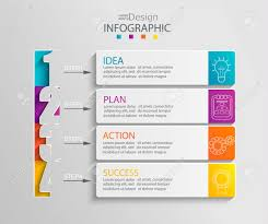 Chart Paper Presentation Paper Infographic Template With 4 Options For Presentation And