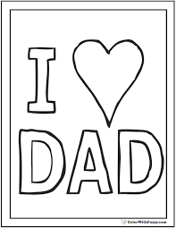Small Picture Fathers Day Coloring Card I Love Dad