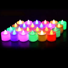 Color Changing Battery Tea Lights 24 Pack Flameless Tealight Candles 7 Color Changing