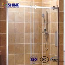 chrome material inside style 10mm thick frameless quadrant shower enclosures