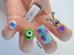 I'm celebrating the release of Monsters, Inc. 3D with my nails ...