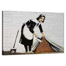 display gallery item 4 banksy canvas pictures maid sweeping stuff under the carpet wall urban art display gallery item 5 on banksy wall art prints with banksy canvas prints sweeping it under the carpet