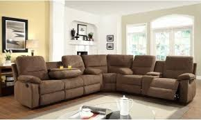 sectional couches with recliners. Sofa Sectionals With Recliners Brown Colored Sofas Chaise White Fluffy Carpet Two Artistic Painting Lamp Sectional Couches N