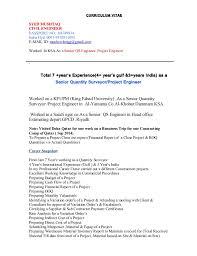 appointment letter for quantity surveyor curriculum vitaesyed mushtaqcivil engineerpassport india applying for quantity surveyor job civil mep qatar quantity surveyor resume