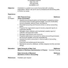 Objective For Accounting Resume New Accounting Resume Objective
