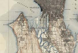 1909 topographic map of seattle old maps and prints emerald throughout most recent seattle