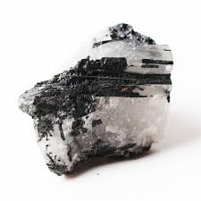 <b>1PC Natural</b> White <b>Crystal</b> With Black Tourmaline <b>Crystal Rough</b> ...