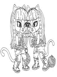 Monster High Coloring Pages Download And Print Monster High