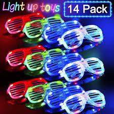 Neon Light Glasses Joyork Glow In The Dark Led Glasses Kids Light Up Party Favors Neon Light Up Glasses Bulk Shutter Shades Flashing Rave Glasses Kids Adults Led Light