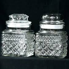 anchor hocking glass jar canisters vintage jars square with plastic seals decorative storage bath or kitchen