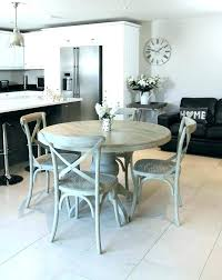 weathered grey dining table room sets gray set round farmhouse our updated with a new farmhous