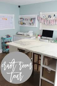 office craftroom tour. weu0027ve been working on my craft roomoffice for a while now little background we had an extra room in the basement previous owners actually used it office craftroom tour i