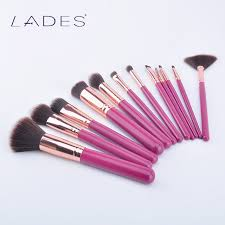 lades fragrance cosmetic brush set 12 red makeup brush makeup tools