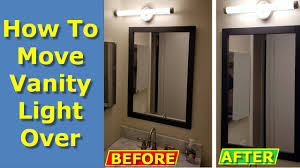 Remove Vanity Light How To Move Off Center Vanity Light Over On Bathroom Wall