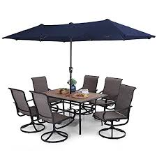 phi villa 7 pcs patio dining set