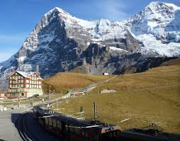 It runs directly under the north face and its water falls. Climb The Eiger 3970m High Mountain Guides