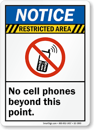 Printable Signs No Cell Phone