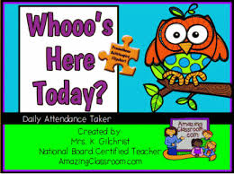 Who S Here Today Chart Printable Whos Here Today Attendance Taker Promethean Activinspire