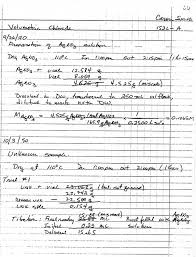 Lab Notebook Example Laboratory Manual General Chemistry Chm 152l