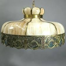 slag glass chandelier arts and crafts antique art and crafts filigree slag glass hanging chandelier circa