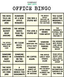 Office Bingo How To Play Office Bingo Company Away Days