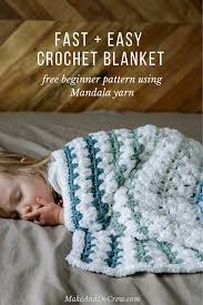 Crochet Baby Blanket Patterns For Beginners Interesting Tributary Free Beginner Crochet Baby Blanket Pattern Make Do Crew