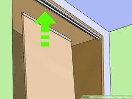 sliding closet doors installation image titled install sliding closet doors step sliding closet door guide tile sliding closet doors installation