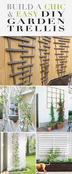 chic and easy diy garden trellis
