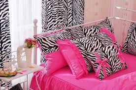 charming pink zebra pattern 4 piece cotton duvet cover sets