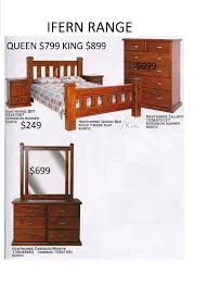 Solid Timber Bedroom Suites New Queen Canopy Four Poster Bed Frame 1399 King 1499 Rent To