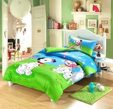 full image for toddler boy twin bed sheets 3d dog print kids toddler bedding set cartoon