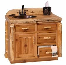 rustic bathroom vanities and sinks 36 cedar log vanity sink left rustic bathroom pine