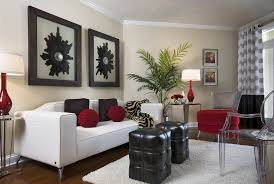 Red Chairs For Living Room Living Room White Flooring Lamp Gray Chairs Television Stunning