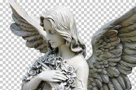 cherub statue guardian angel sculpture angel praying angel statue png clipart free cliparts uihere