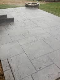 Image Modern Stamped Concrete Patio Firepit For Dublin Ohio Homeowner Custom Concrete Plus Dublin Ohio Stamped Concrete Patio Project Custom Concrete Plus