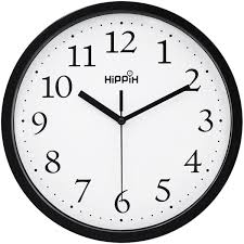 office clock wall. Hippih Black Wall Clock Silent Non Ticking Quality Quartz, 10 Inch Round Easy To Read Office \